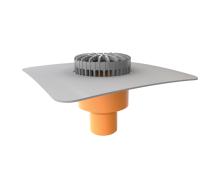 Террасная воронка вертикальная с приваренным фартуком из ПВХ-мембраны