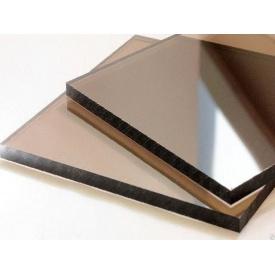 Монолитный поликарбонат Placarb 3050x2050х8 мм бронзовый