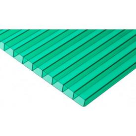 Стільниковий полікарбонат Placarb 6000х2100х10 мм зелений