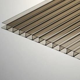 Сотовый поликарбонат Placarb 6000x2100х4 мм бронзовый