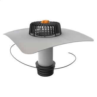 Ремонтна воронка вертикальна з підігрівом і привареним фартухом з ПВХ-мембрани