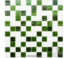 Стеклянная мозаика Котто Керамика GM 4030 C3 GREEN D GREEN M WHITE 300х300х4 мм