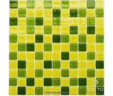 Стеклянная мозаика Котто Керамика GM 4032 C3 LIME D LIME M YELLOW 300х300х4 мм