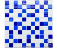Стеклянная мозаика Котто Керамика GM 4033 C3 COBALT D COBALT M WHITE 300х300х4 мм