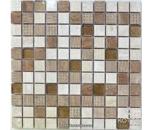 Декоративна мозаїка Котто Кераміка CM 3044 C3 BEIGE BROWN GOLD BROWN 300x300x8 мм
