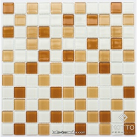 Стеклянная мозаика Котто Керамика GM 4036 C3 HONEY M HONE W WHITE 300х300х4 мм
