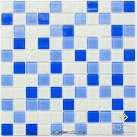 Стеклянная мозаика Котто Керамика GM 4040 C3 COBALT M COBALT W WHITE 300х300х4 мм