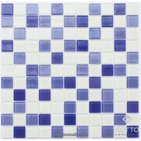 Стеклянная мозаика Котто Керамика GM 4041 C3 VIOLET D VIOLET M WHITE 300х300х4 мм