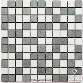 Керамическая мозаика Котто Керамика CM 3030 C2 GRAY WHITE 300x300x8 мм