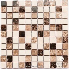Керамическая мозаика Котто Керамика CM 3024 C2 BROWN BEIGE WHITE 300x300x10 мм