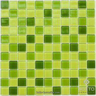 Стеклянная мозаика Котто Керамика GM 4031 C3 LIME D LIME M LIME W 300х300х4 мм