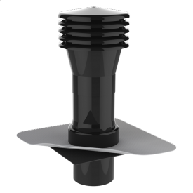 Вентиляционный выход для канализационных стояков XL с приваренным фартуком из ПВХ-мембраны
