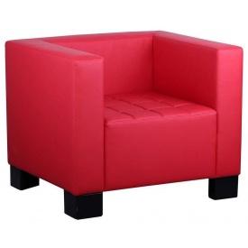 Офисное мягкое кресло Спейс Richman 900х740 мм красное