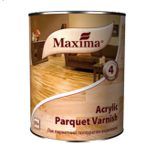 Лак паркетний поліуретан-акриловий Acrylic parquet varnish MAXIMA шовковисто-матовий 2,5 л