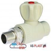 Кран радиаторный полипропиленовый прямой 25x3/4 VS Plast