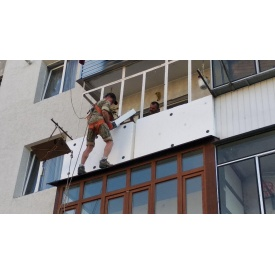 Утепление балкона пенопластом