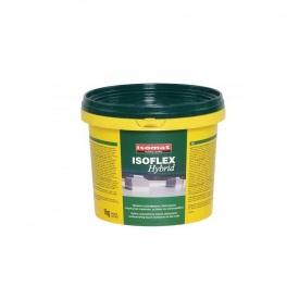 Рідка гібридна акрил-поліуретанова мембрана ІЗОФЛЕКС ГІБРИД 1 кг біла