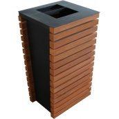 Вулична урна для сміття металева Каси URBAN1 420х430х812 мм