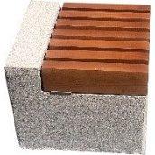 Лавка короткая садово-парковая без спинки с бетонным основанием №10 Каси для шахматного стола