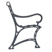 Опора лавки садово-паркової чавунна з підлокітником № 7 Каси