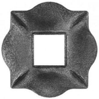 Пятка кованная металлическая 100х100х10 мм (44.013)