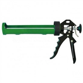 Пистолет для герметика полуотрытый пластиковый ручка металлическая