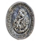 Гіпсова картина Божої Матері з дитиною Кр/011 21х27х4 см