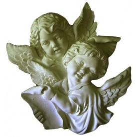 Декоративные ангелы из лепнины Де/097 42х42х8 см