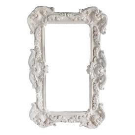 Прямоугольная рама для зеркала из натуральной лепнины Об/006