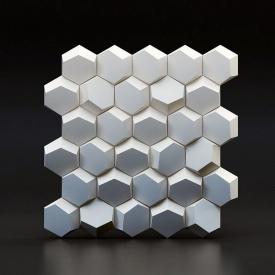 """Гіпсові 3D панелі """"Сота"""" 3D/20 50х50х2,5 см"""