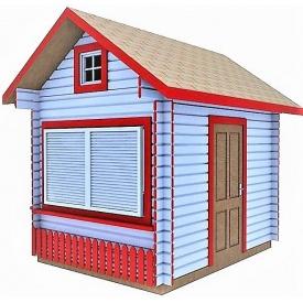 Будиночок торговий збірно-розбірний 3x3 м 9 м2
