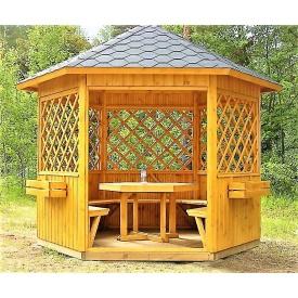 Беседка шестигранная деревянная 3 м