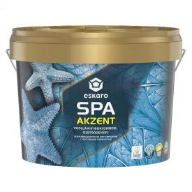 Полуглянцевая краска для помещений с постоянной влажностью Eskaro Akzent SPA 2,7 л
