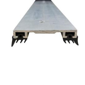 Соединительный алюминиевый профиль крышка прямая 40 мм 6 м