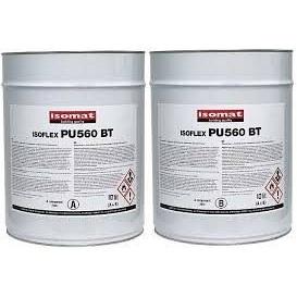 Сверхэластичное бітумно-поліуретанова гідроізоляційне покриття Ізофлекс-ПУ 560 БТ 40 л