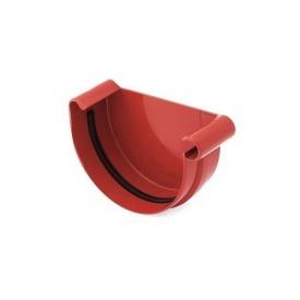Заглушка желоба левая BRYZA 125 мм красная