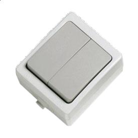 Выключатель двойной Shuko IP54