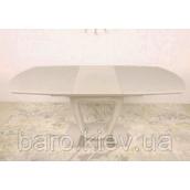 Стол Nicolas Ottawa стекло сатин 140х85х76 см крем