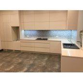 Кухня Г-образная в стиле минимализм 4100x3200x600 мм