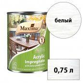 Морилка акриловая глубокого проникновения Acrylic Impregnate MAXIMA белый 0,75 л