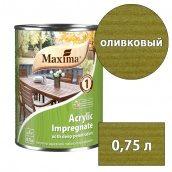 Морилка акриловая глубокого проникновения Acrylic Impregnate MAXIMA оливковый 0,75 л