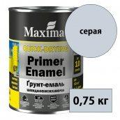 Грунт-эмаль быстросохнущая Quick-Drying Primer Enamel MAXIMA серый 0,75 кг