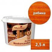 Лазурь акриловая деревозащитная Acryliс woodcare product MAXIMA рябина 2,5 л