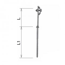 Держатель проволоки фасадный M8 100/100 мм нержавейка IN KovoFlex
