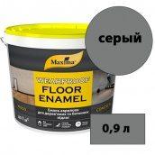 Эмаль акриловая для деревянных и бетонных полов Wearproof Floor Enamel MAXIMA серый (RAL 7037) 0,9 л