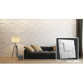 Гіпсові 3D панель 3D/21 50х50х2,5 см