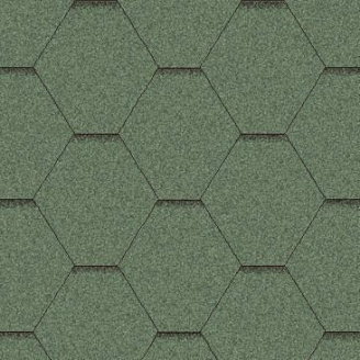 Битумная черепица Aquaizol Мозаика 1000*320 мм зеленая