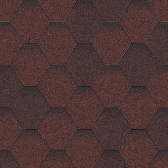 Бітумна черепиця Aquaizol Мозаїка 320х1000 мм Червона мікс