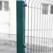 Столб для ограждения Сетка Запад 60x40 мм 2,5 м оцинковка/ПП RAL 6005 зеленый