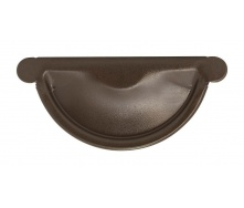 Заглушка желоба Акведук Премиум 125 мм темно-коричневый RAL 8019